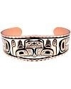 Haida Inspired Hands of Creation Copper Bracelet
