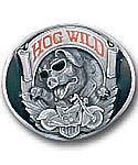 Hog Wild Motorcycle Pig Belt Buckle