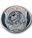 Hog Wild MOTORCYCLE Pig Belt Buckle