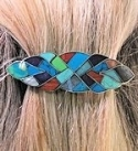 Inlaid Stone Barrette