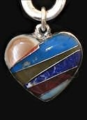 Multi-Stone Heart Medicine Rock Necklace