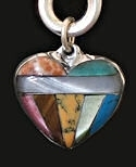 Multi-Stone Heart Power Stone Inlaid Necklace