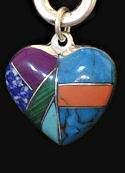 Inlaid Multi-Stone Heart Power Stone Necklace