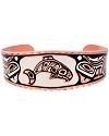 Pacific Coast Haida Inspired Whale Copper Bracelet