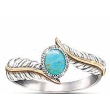 Turquoise Sterling Silver Women's Ring