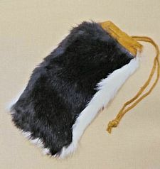 "Large 4.5"" x 8"" Rabbit Fur Bag"