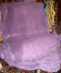 6.1 Sq Ft Lavender Suede LEATHER