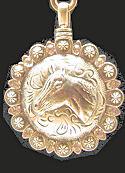 Horse Head CUBIC ZIRCONIA Pendant