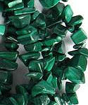 "36"" Strand Malachite Gemstone Chip Beads"