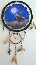 Indian on Horse Mandella Dreamcatcher Wall Art