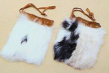 "Medium 4"" x 5"" Rabbit Fur Bag"