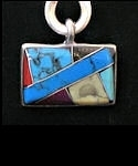 Medicine Rock Inlaid Rectangle Pendant