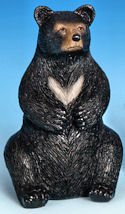 Miniature Sitting Black Bear Figurine