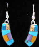 Mosaic Stone Inlay Earrings
