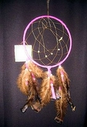 "15"" Dream Catcher with Natural Feathers"