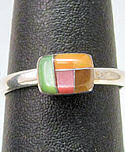 Natural Stone Inlaid Ring