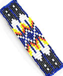 Navajo Butterfly Design Beaded Barette