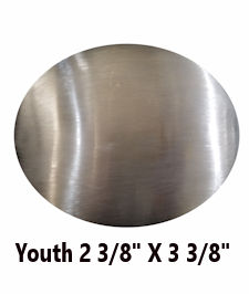 Youth Oval Belt Buckle Blank