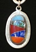 Oval Inlaid Pendant