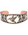 Pacific Northwest Inspired Hummingbird Diamond Cut Copper Bracel