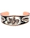 Pacific Coast Inspired Eagle & Salmon Copper Bracelet