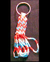 Turquoise & Red Peyote Keychain
