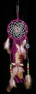 "3 1/2"" Purple Dream catcher ornament"