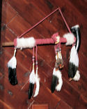 Buffalo Horn Medicine Bag Peace Pipe
