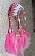Pink War Bonnet Headdress Mirror Ornament