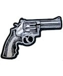 Revolver Pistol Gun Embroidered Patch