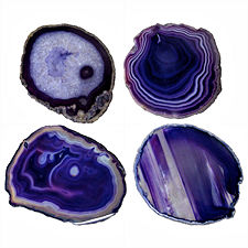 "Purple Agate Slices, 1.25"" to 2"""