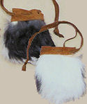 "Small 2"" x 3"" Rabbit Fur Bag"