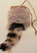 "Raccoon Inspired Rabbit 4"" x 5"" Rabbit Fur Bag"