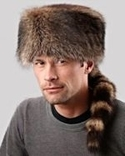 Real Raccoon Hat with Tail
