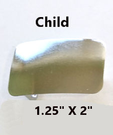 Child Rectangle Belt Buckle Blank