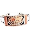 Kokopelli and Rabbit Rectangular Cuff Bracelet