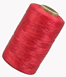 Red Artificial Sinew, 300 yard roll