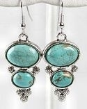 Turquoise 2 Stone Earrings