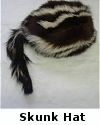 Skunk Hat with Tail