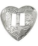 "Heart 2 Slot 1.5"" Concho"
