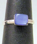 Small Rectangular Amethyst Ring