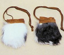 "Small 2"" x 3"" Rabbit Fur Bag 1"