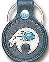 Southwest Spirit Bear Leather Keychain