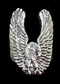 Spread winged swooping eagle ring