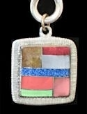 Square Powerstone Inlaid Pendant #3-004H