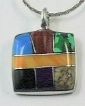 Square Inlay Pendant 019
