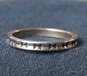 Sterling Silver Stylized Stackable Band No.3