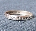 Sterling Silver Stylized Stackable Band No.2