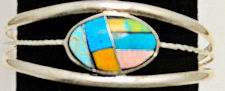 Southwest Zuni Inspired Inlaid Stone Bracelet #FB207