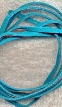 Turquoise Cowhide Suede Laces